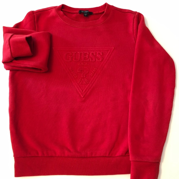 shop for official variety styles of 2019 reasonably priced GUESS SWEATSHIRT SIZE XS RED